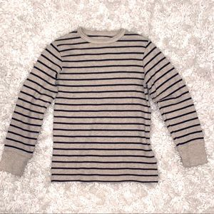 Children's Place Thermal Striped Pullover Top